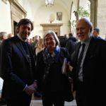 il Dott. Valerio Vico, Presidente di Fiduciaria Marche e il Dott. Federico Barbieri, Consigliere, incontrano l'Onorevole Rosi Bindi